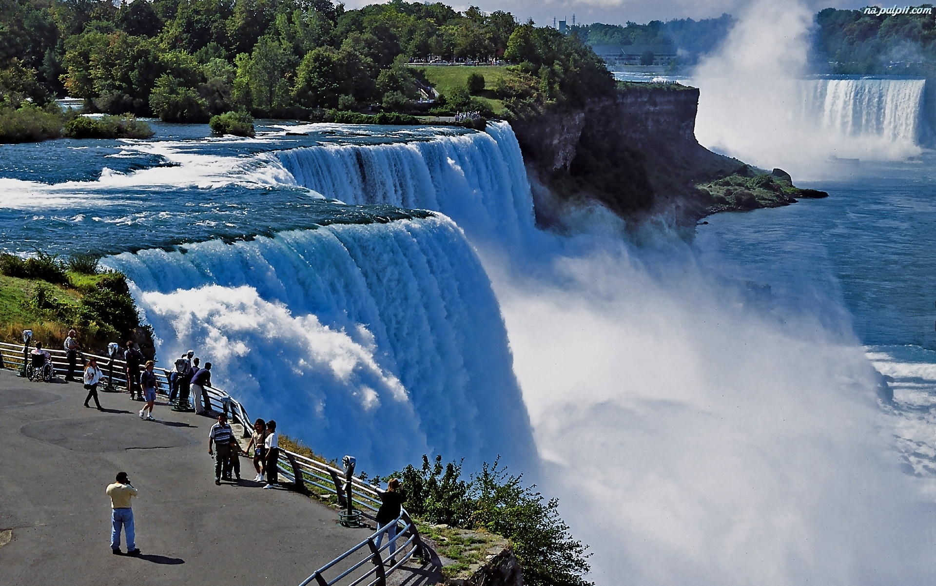 Widokowy, falls, niagara, kanada, taras